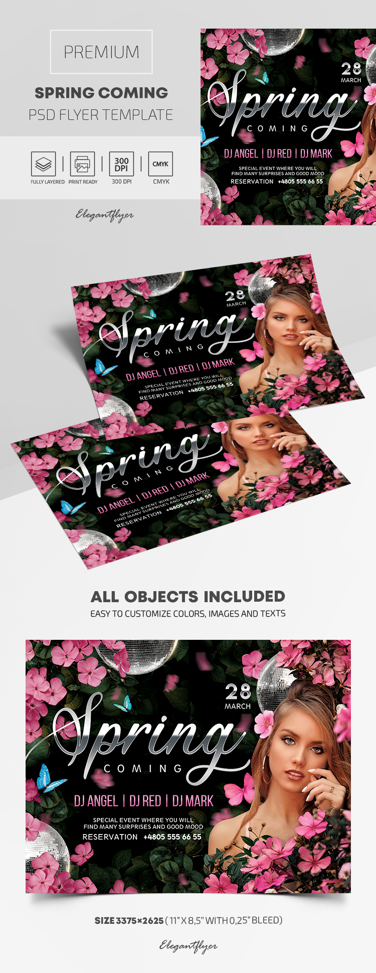 Spring Coming – Premium PSD Flyer Template