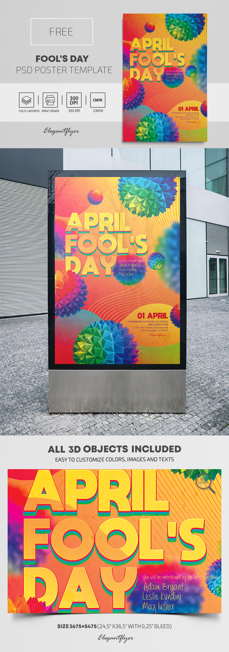 Fool's Day – Free PSD Poster Template