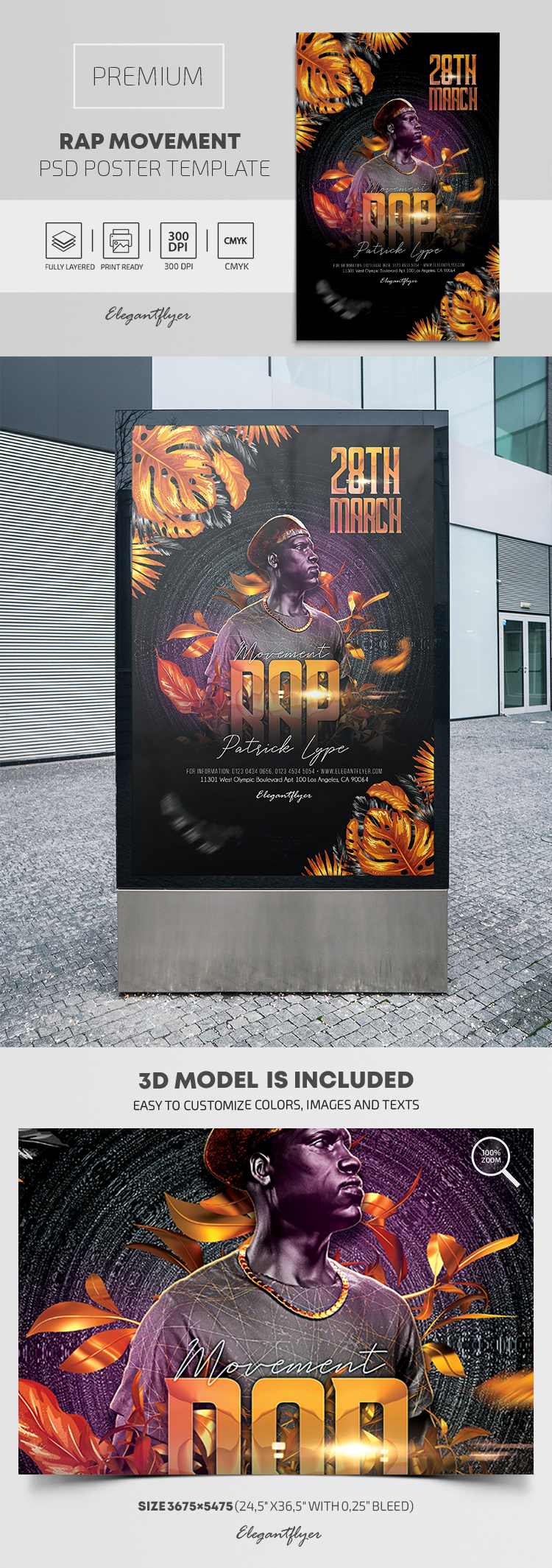 Rap Movement – Premium PSD Poster Template
