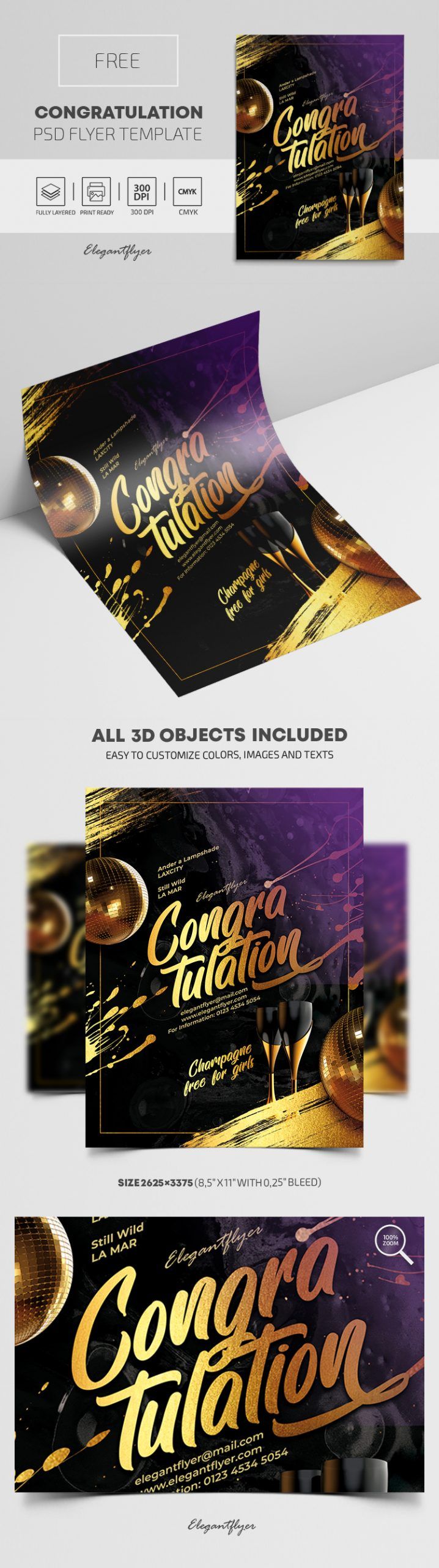 Congratulation – Free PSD Flyer