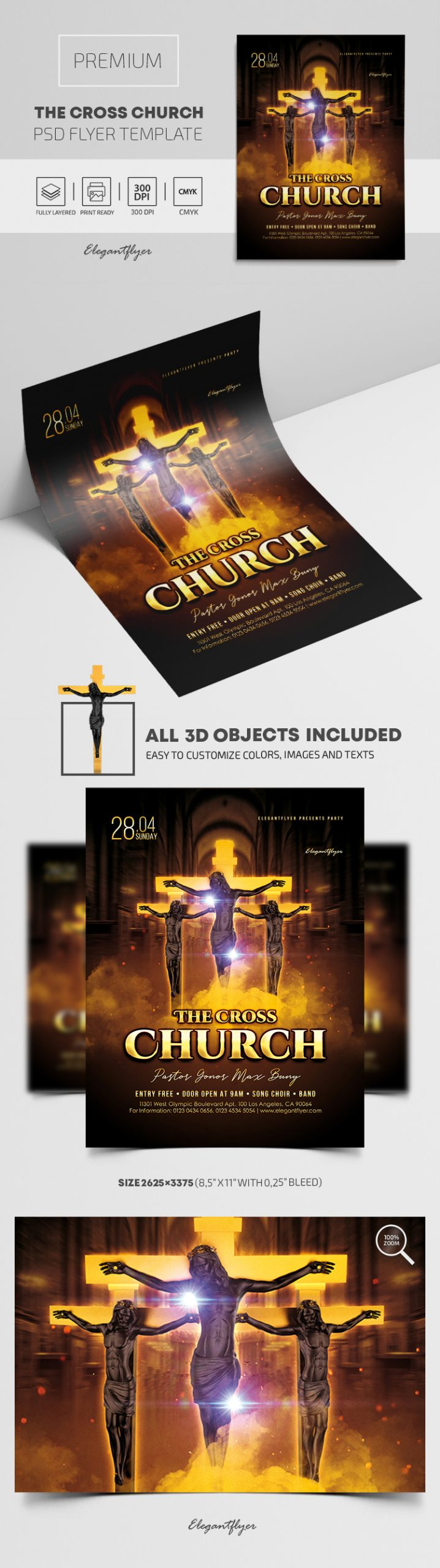 The Cross Church – Premium PSD Flyer Template