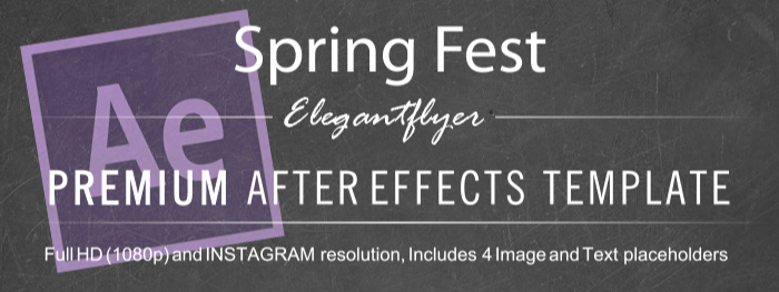 Spring Fest After Effects Template