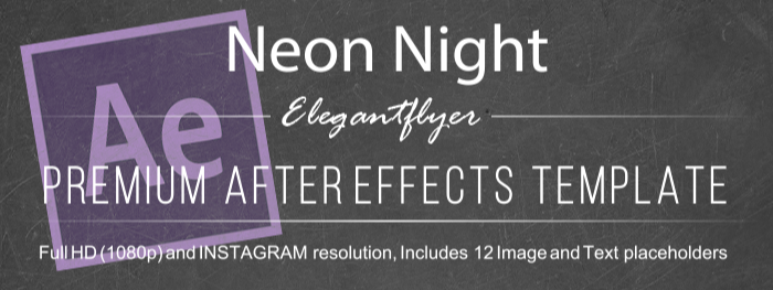 Neon Night After Effects Template