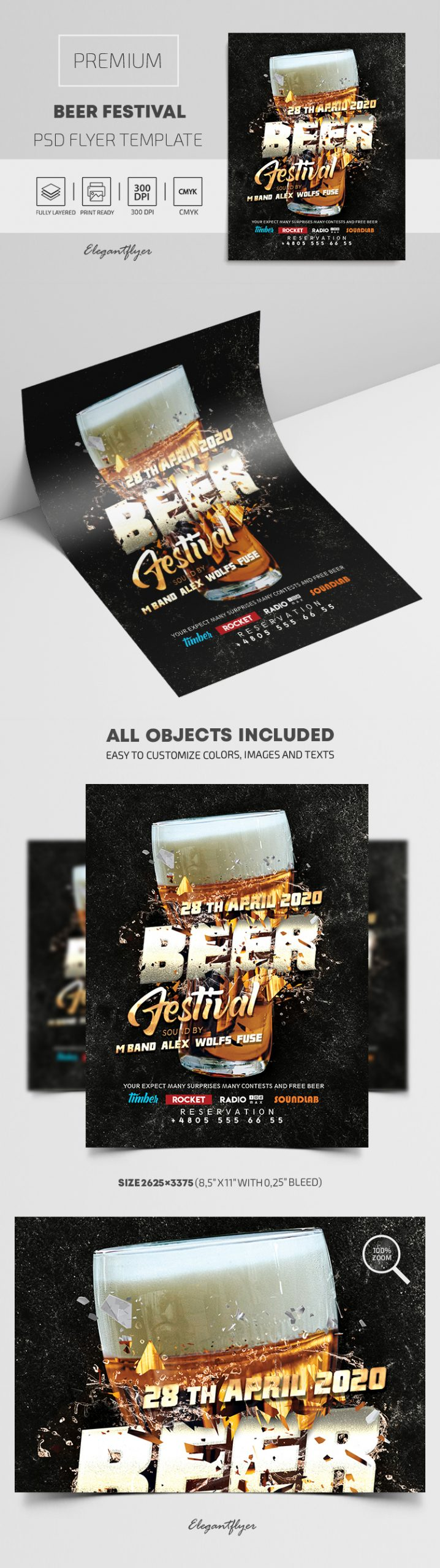 Beer Festival – Premium PSD Flyer Template