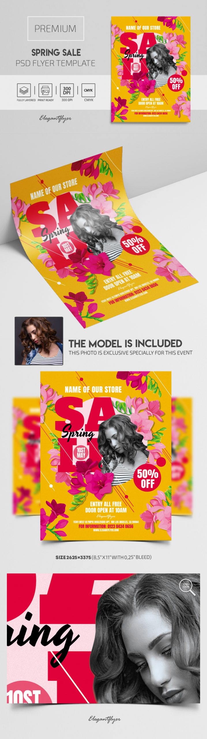 Spring Sale – Premium PSD Flyer Template