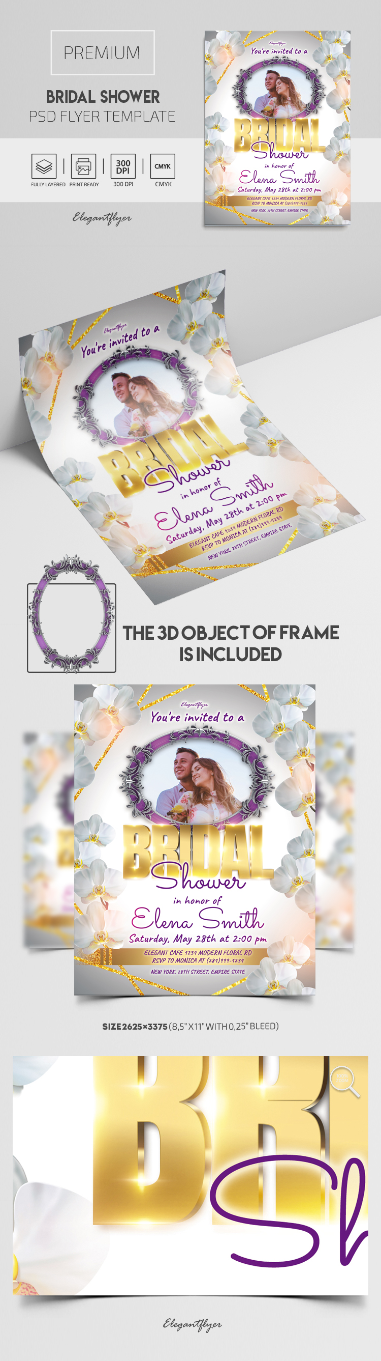Bridal Shower – Premium PSD Flyer Template