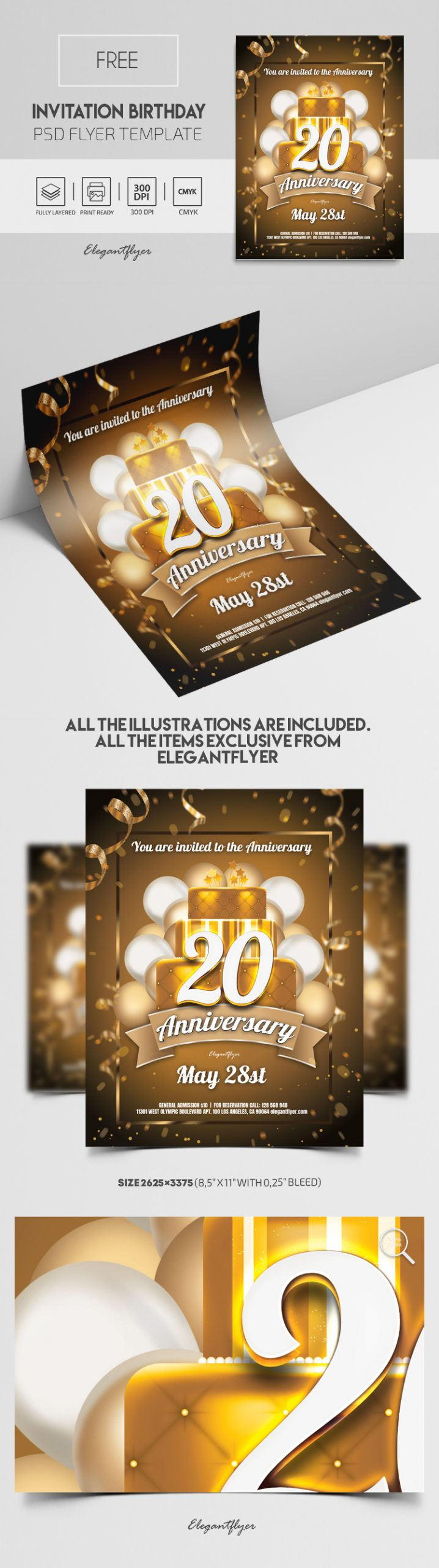Invitation Birthday – Free PSD Invitation Template
