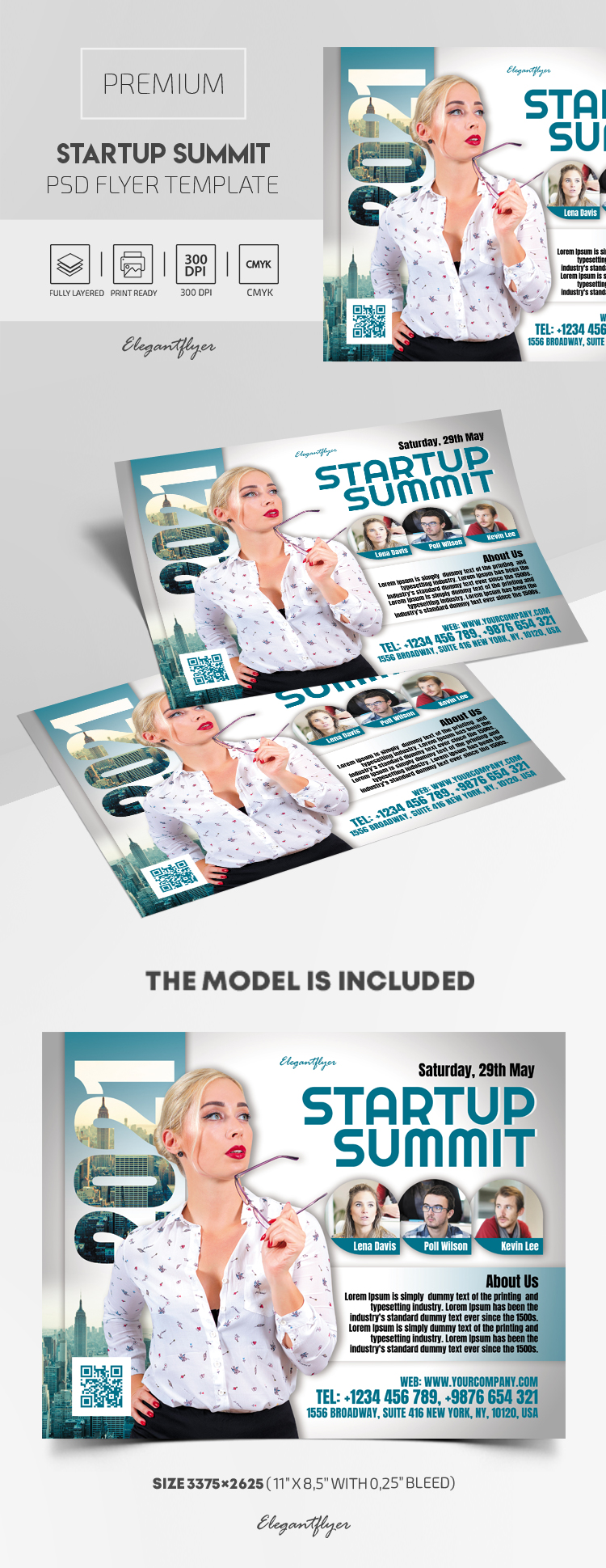 Startup Summit – Premium PSD Flyer Template