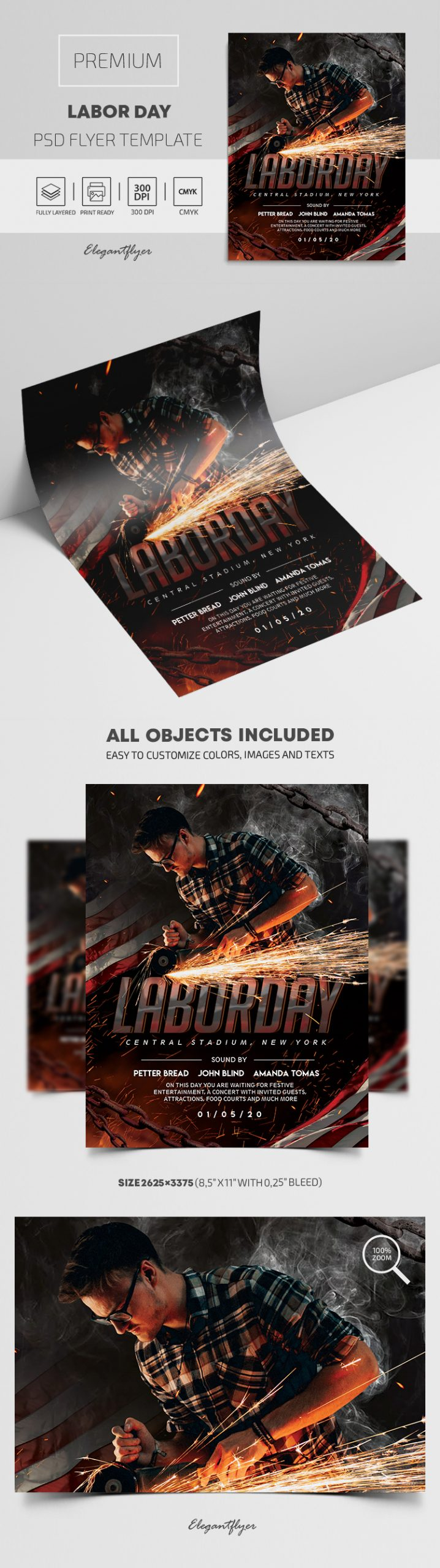 Labor Day – Premium PSD Flyer Template