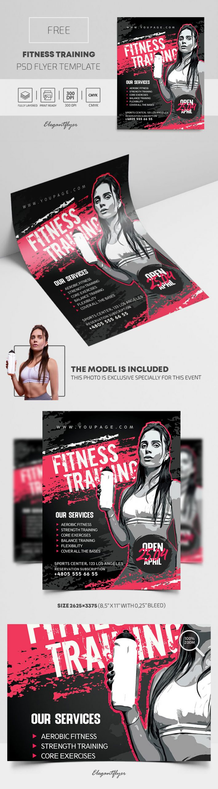 Fitness Training – Free PSD Flyer Template