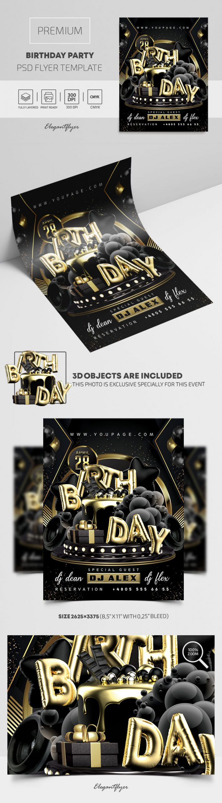 Birthday Party – Premium PSD Flyer Template