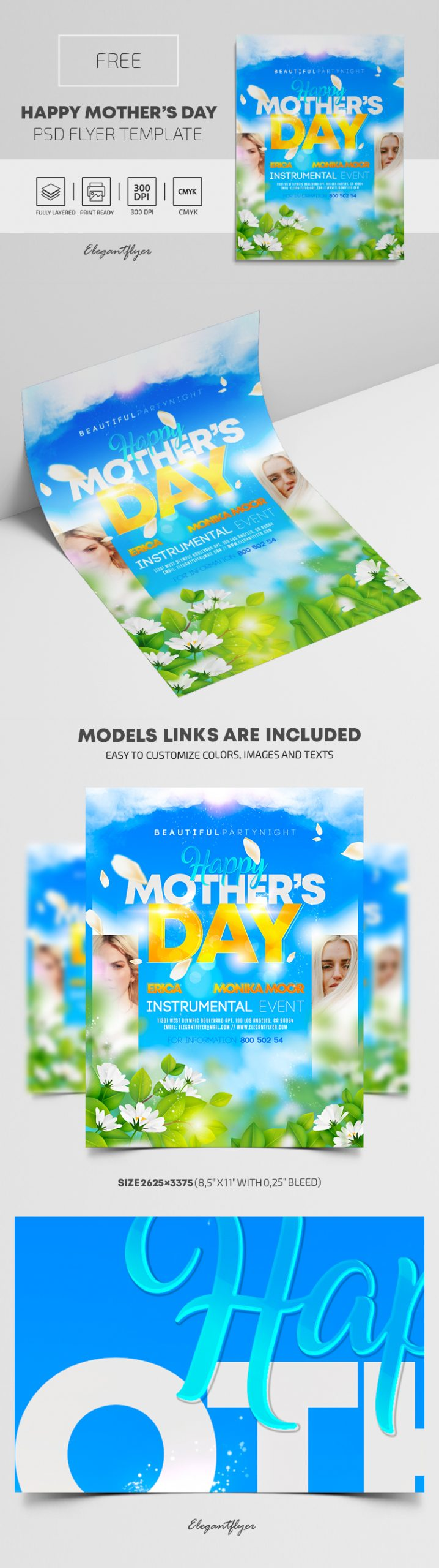 Happy Mother's Day – Free PSD Flyer Template