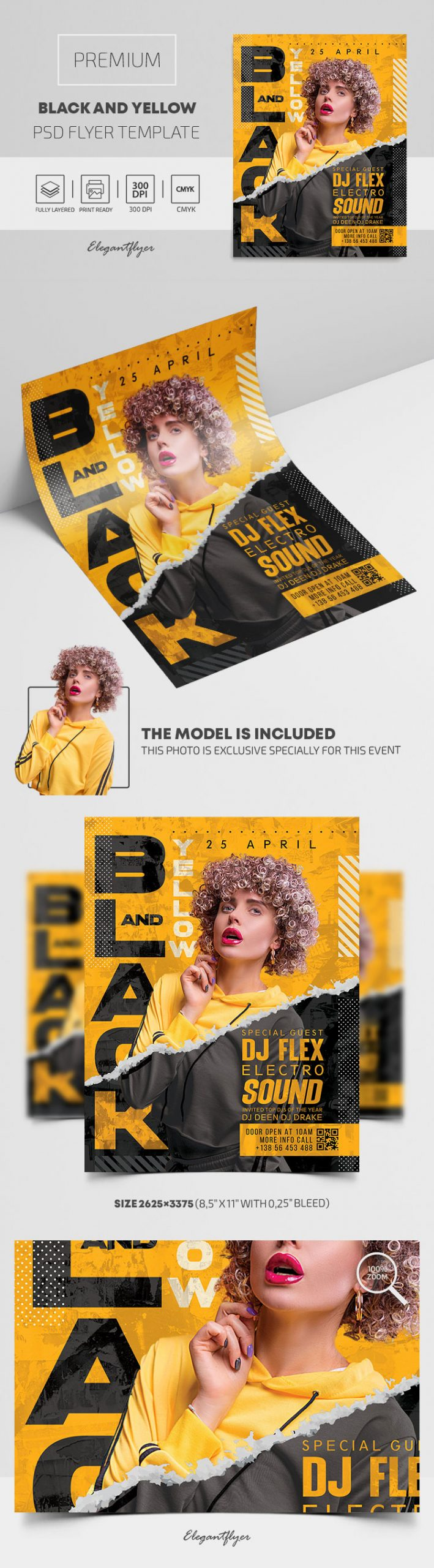 Black and Yellow – Premium PSD Flyer Template