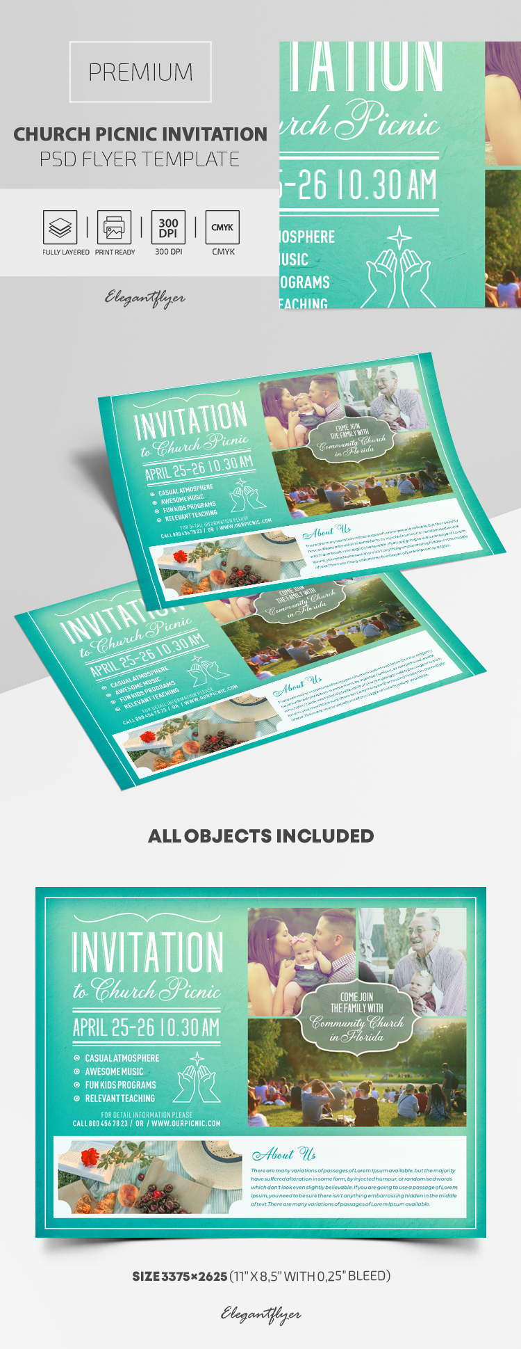 Church Picnic Invitation – Premium PSD Template