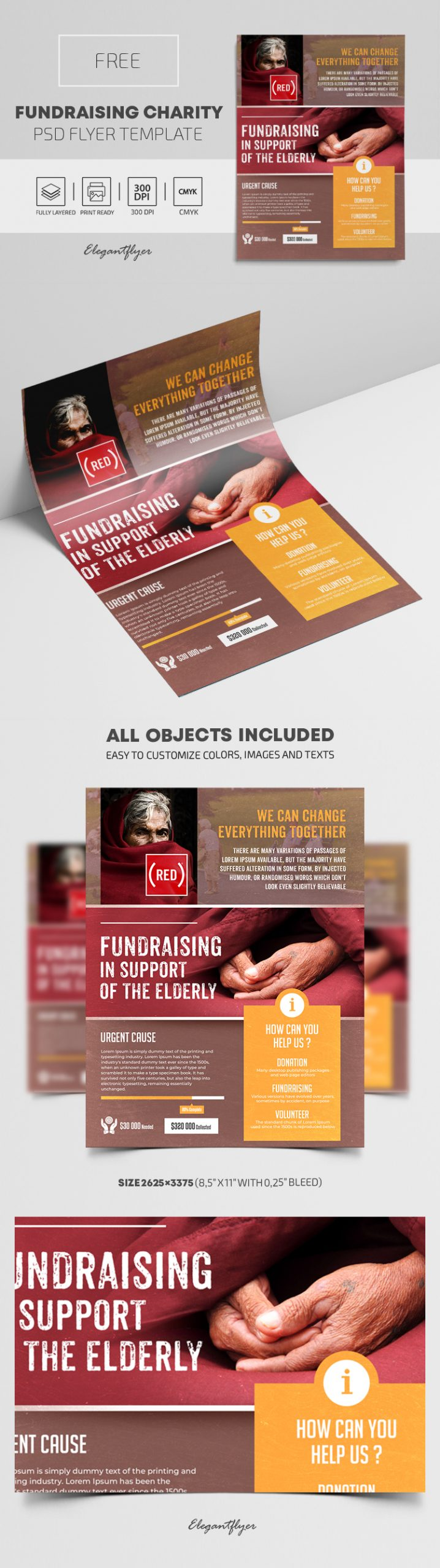 Fundraising Charity – PSD Flyer Template