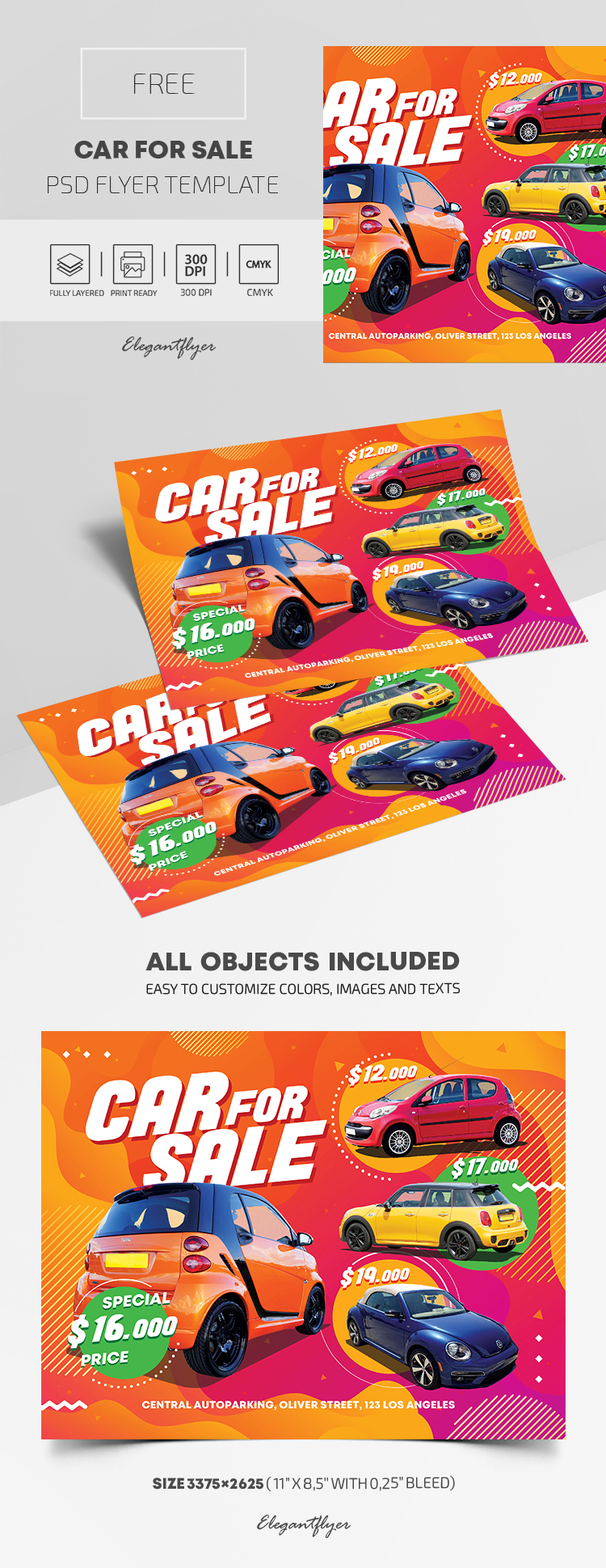 Car For Sale – Free PSD Flyer Template