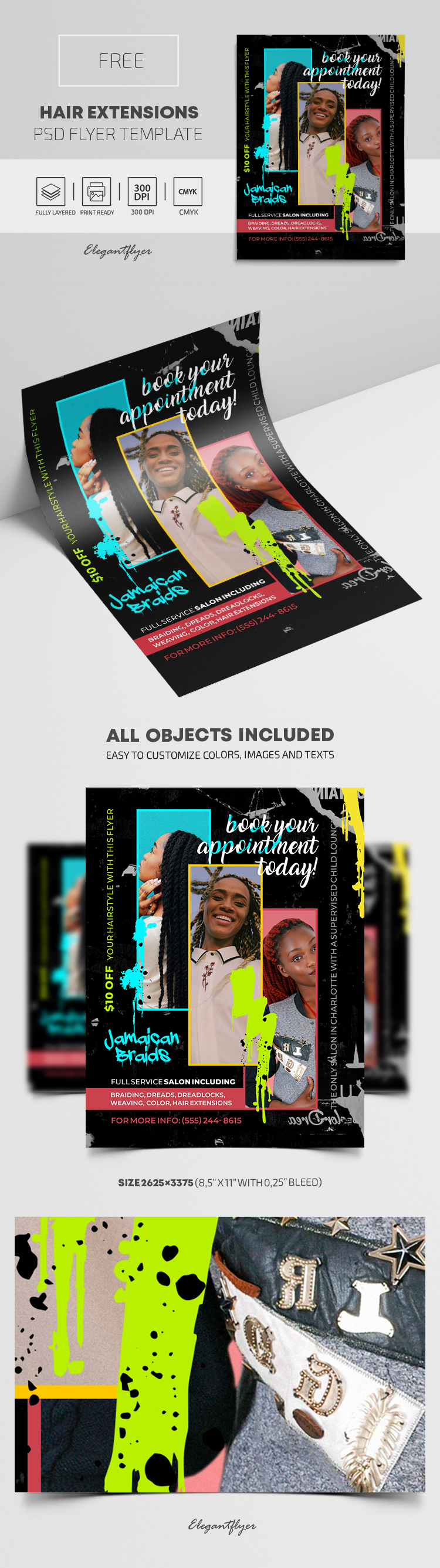 Hair Extensions – Free PSD Flyer Template