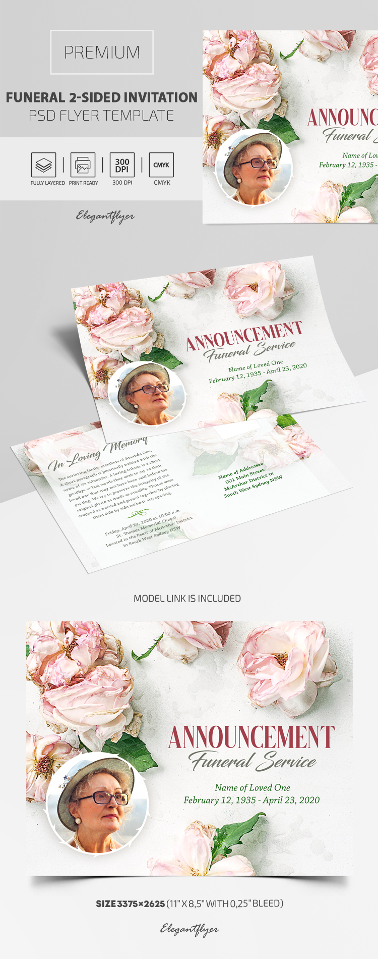 Funeral Invitation – Premium PSD Template