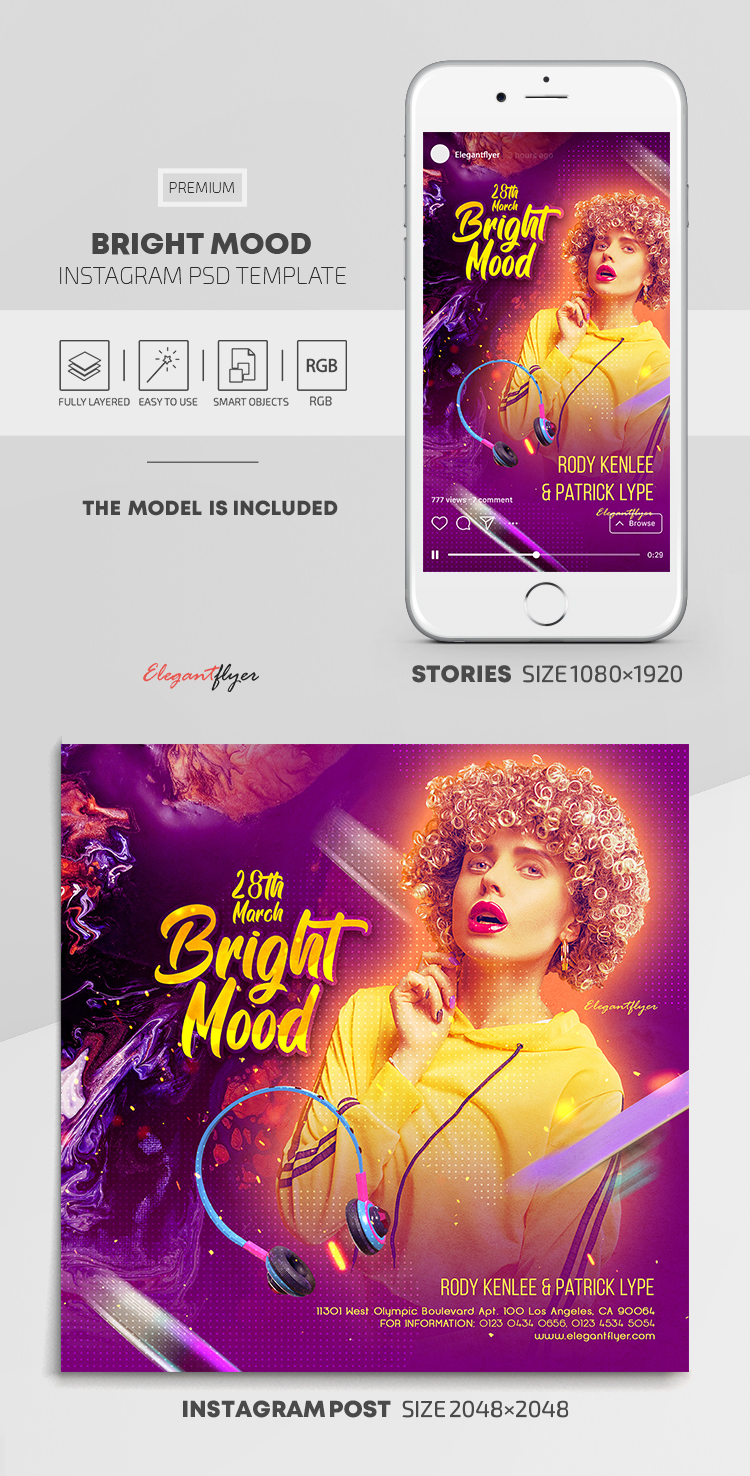 Bright Mood – Instagram Stories Template in PSD + Post Templates