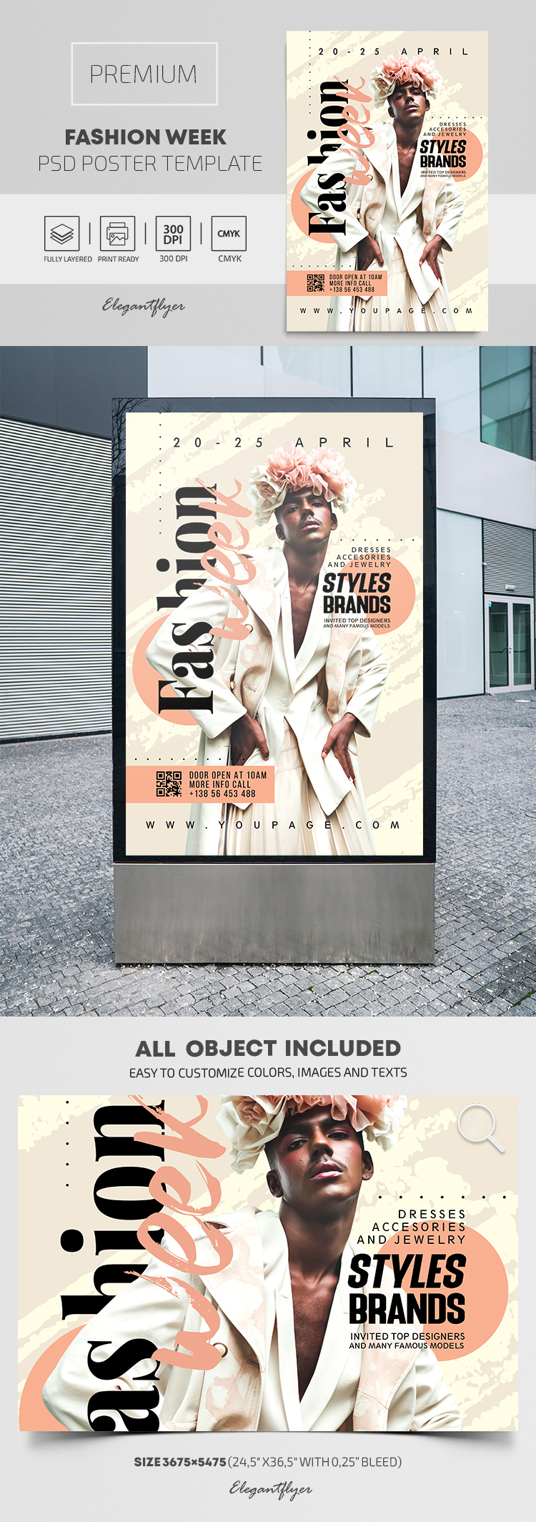 Fashion Week – Premium PSD Poster Template