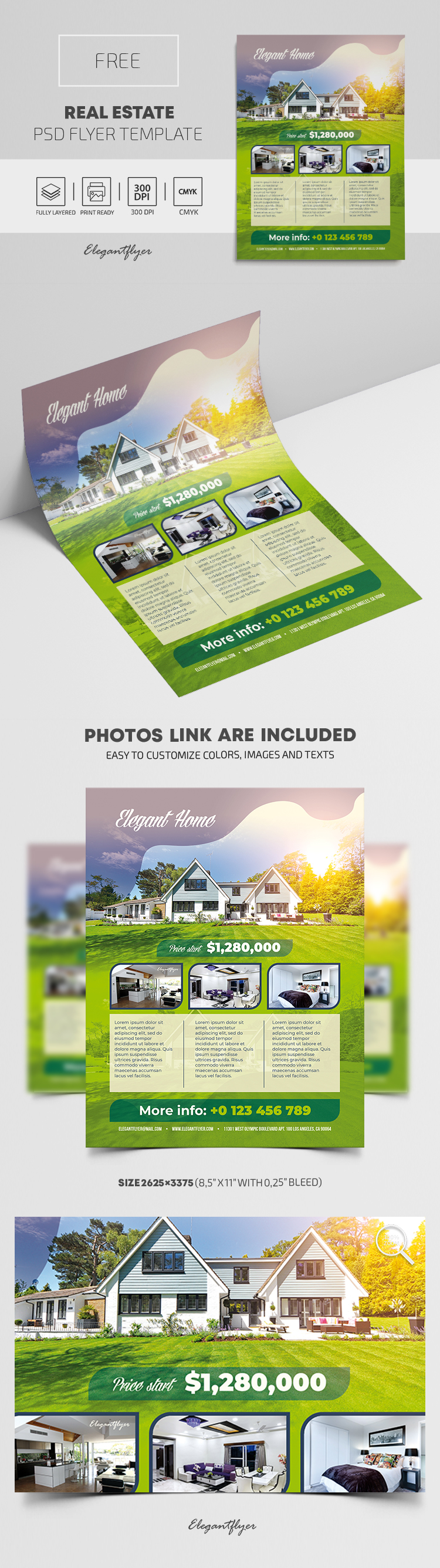 Real Estate – Free PSD Flyer Template
