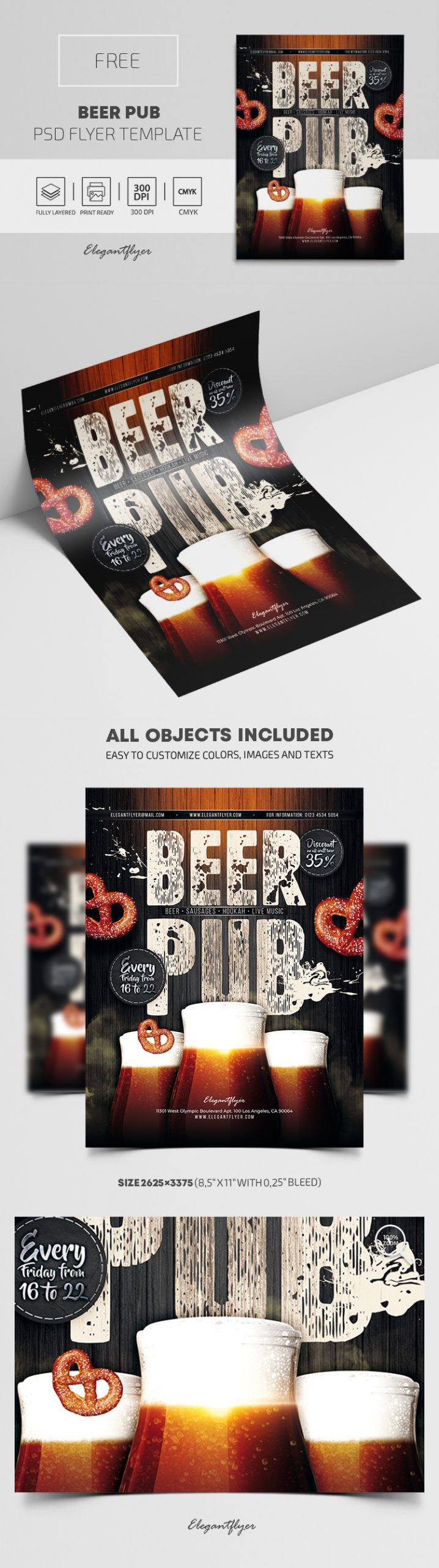 Beer Pub – Free PSD Flyer Template