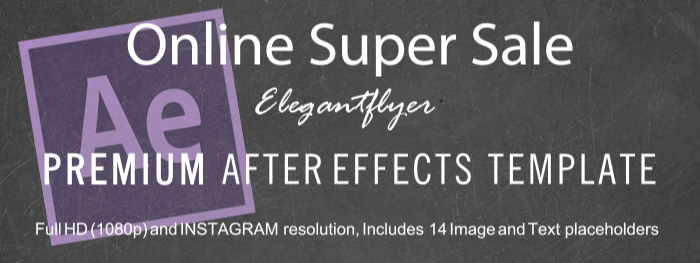 Online Super Sale After Effects Template
