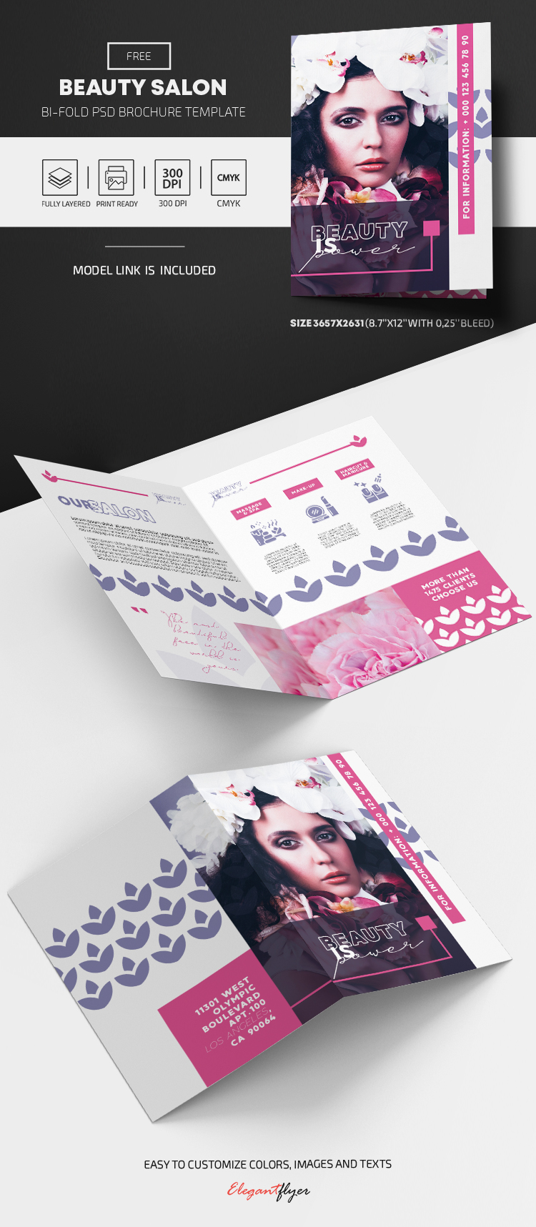 Beauty Salon – Free Bi-Fold Brochure
