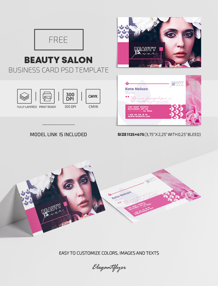 Beauty Salon – Free PSD Business Card Template
