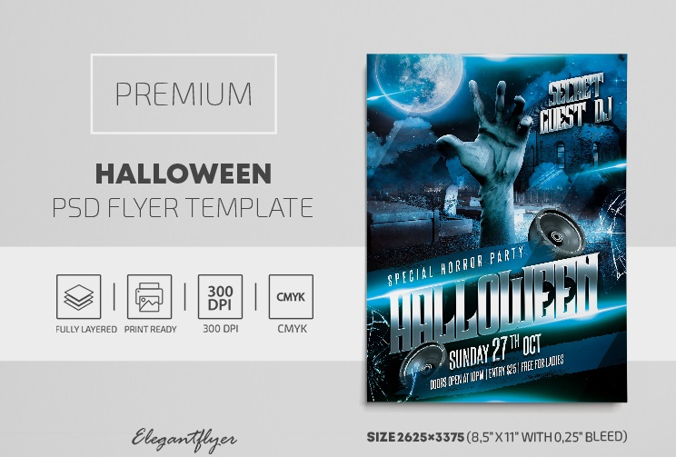 40+ Free Halloween Flyers Templates in PSD + Premium Version!