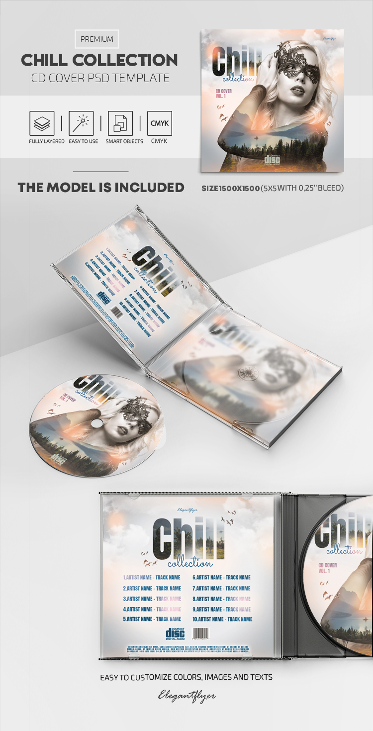 Chill Collection – Premium CD Cover PSD Template