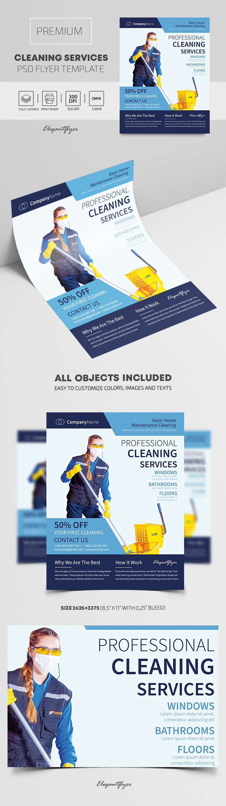 Cleaning Services – Premium PSD Flyer Template