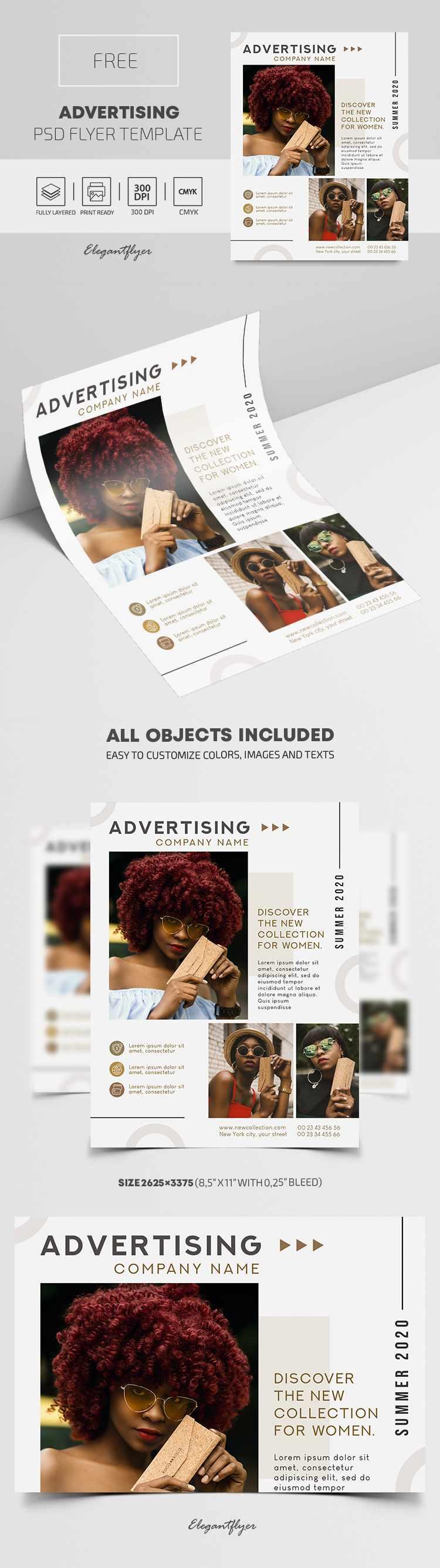 Advertising – Free PSD Flyer Template