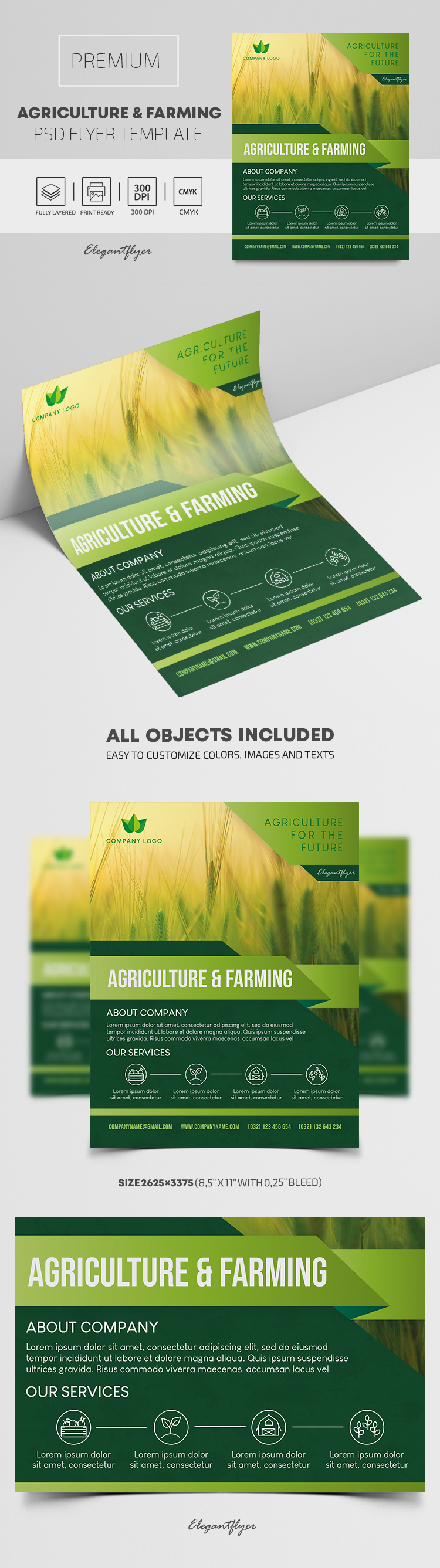 Agriculture and Farming – Premium PSD Flyer Template