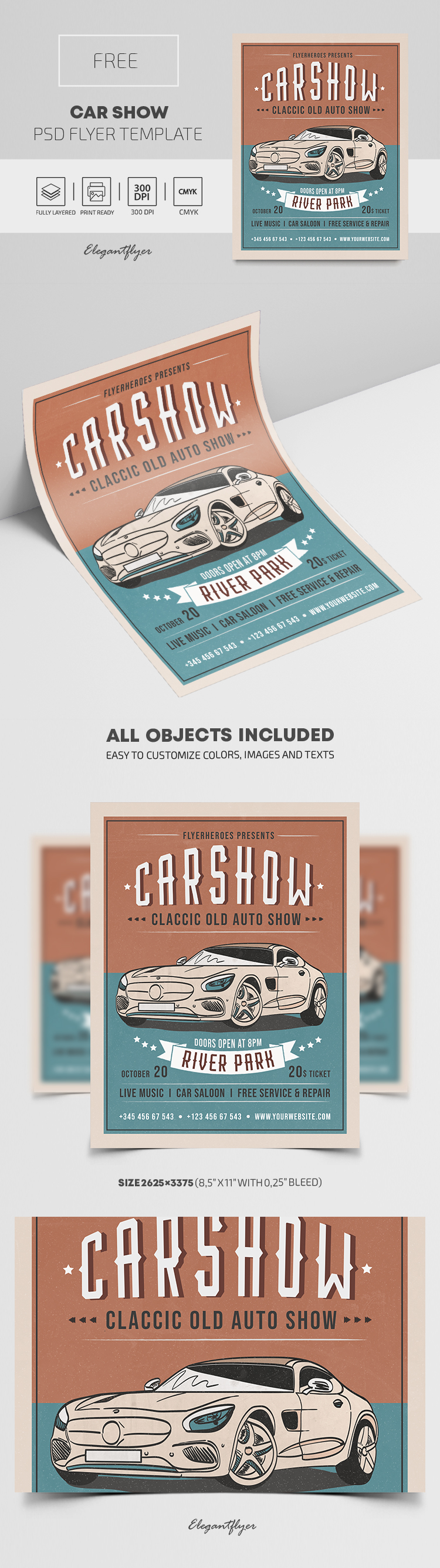 Car Show – Free PSD Flyer Template