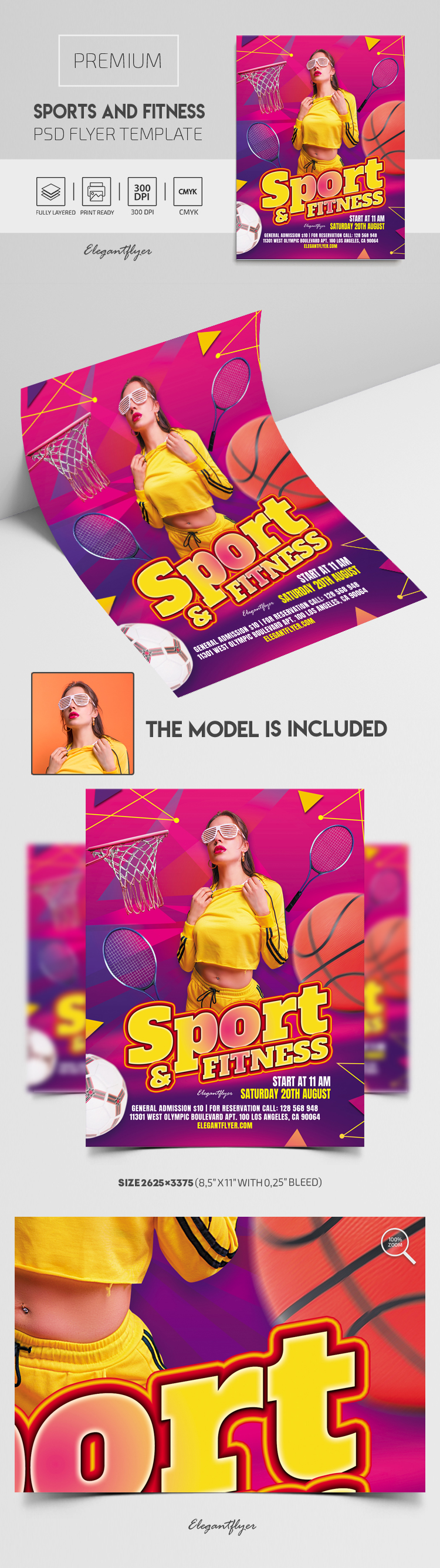 Sports And Fitness – Premium PSD Flyer Template