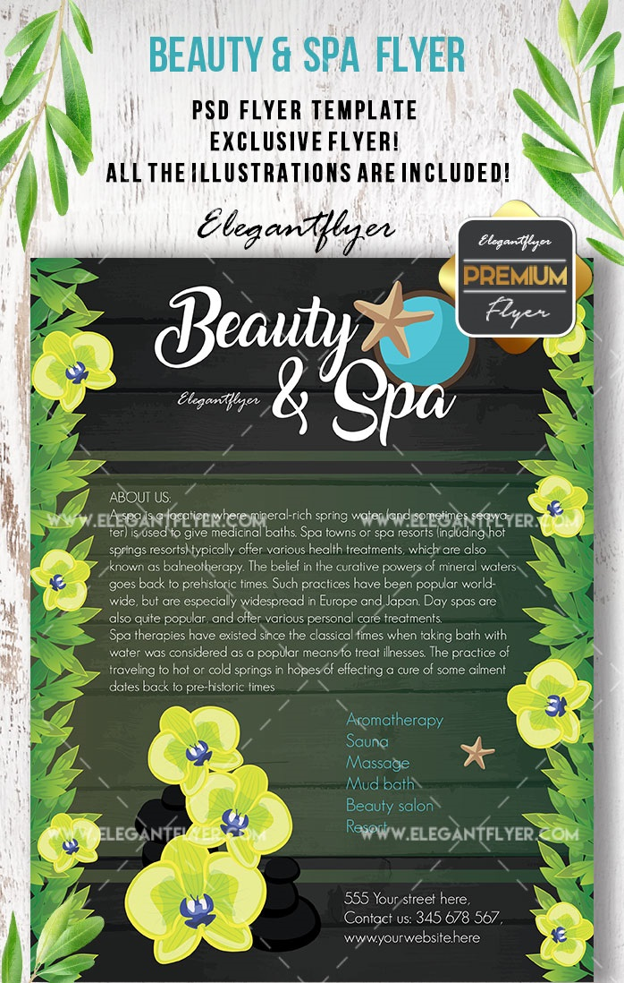 30+ Free Beauty & Spa Flyers Templates in PSD + Premium Version!