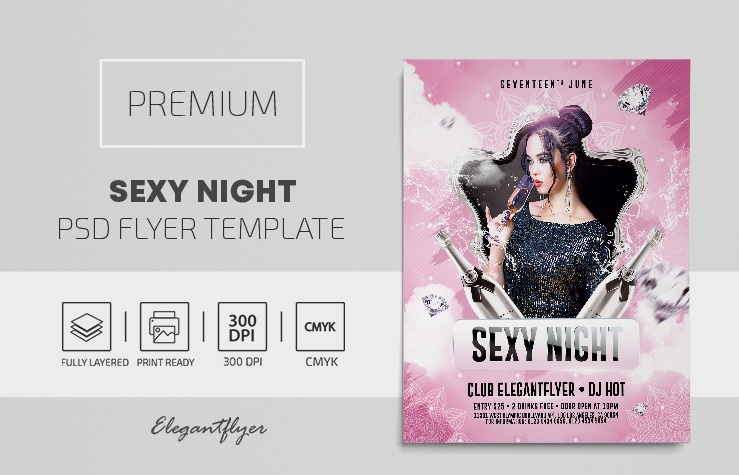 35+ Free Lady's Party Flyers Templates in PSD + Premium Version!