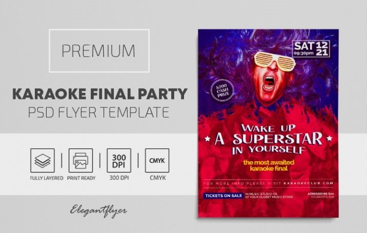 30+ Free Karaoke Flyers Templates in PSD + Premium Version!