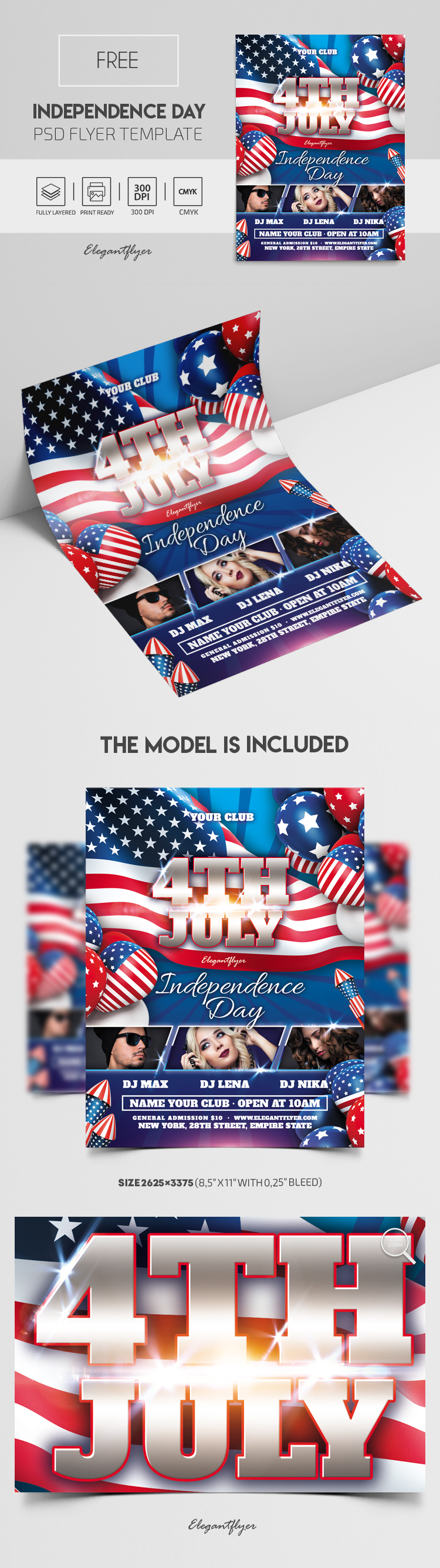 Independence Day – Free PSD Flyer Template