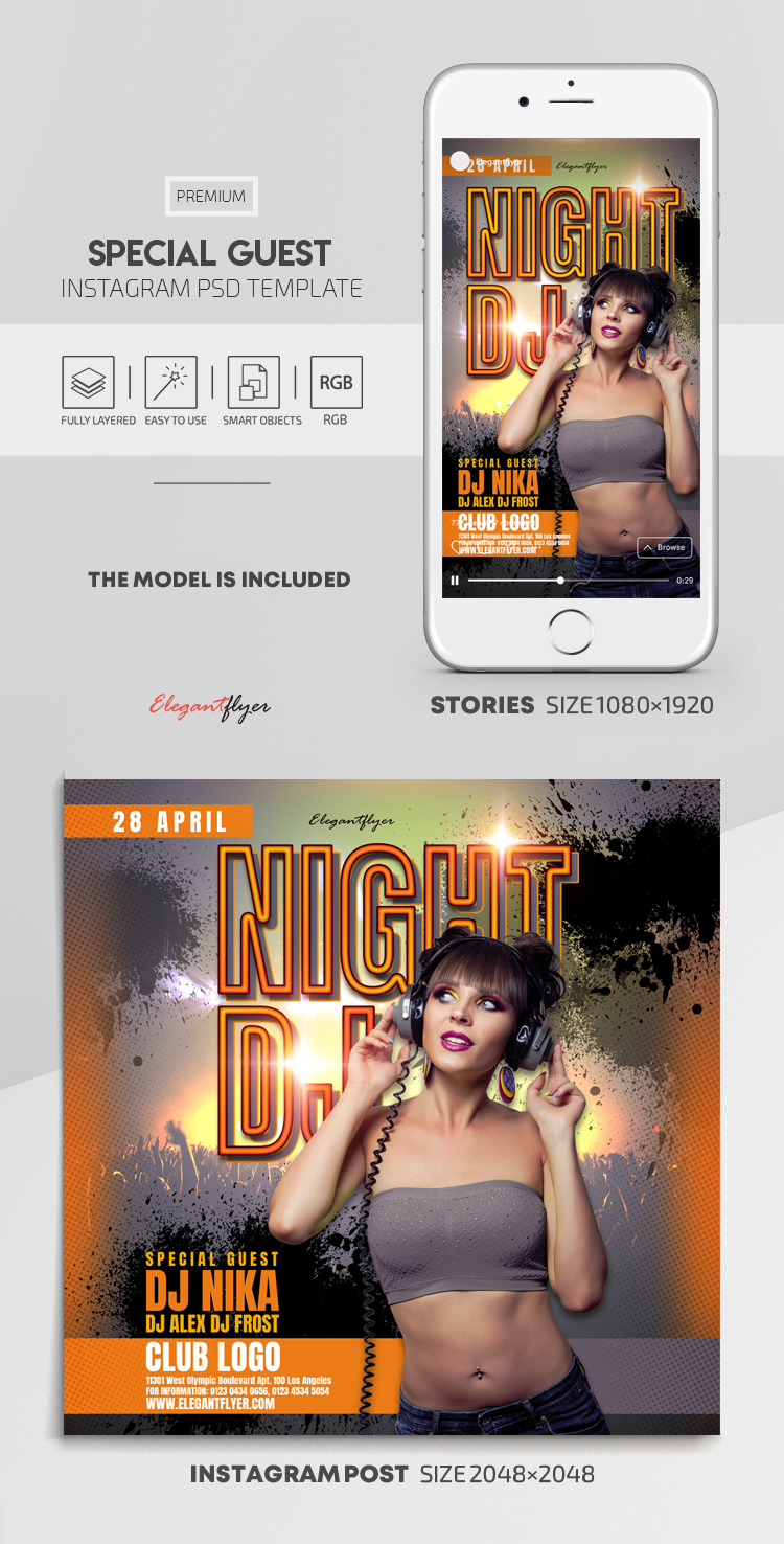 Special Guest – Instagram Stories Template in PSD + Post Templates