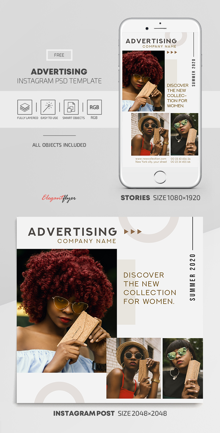 Advertising - Free Instagram Stories Template in PSD ...