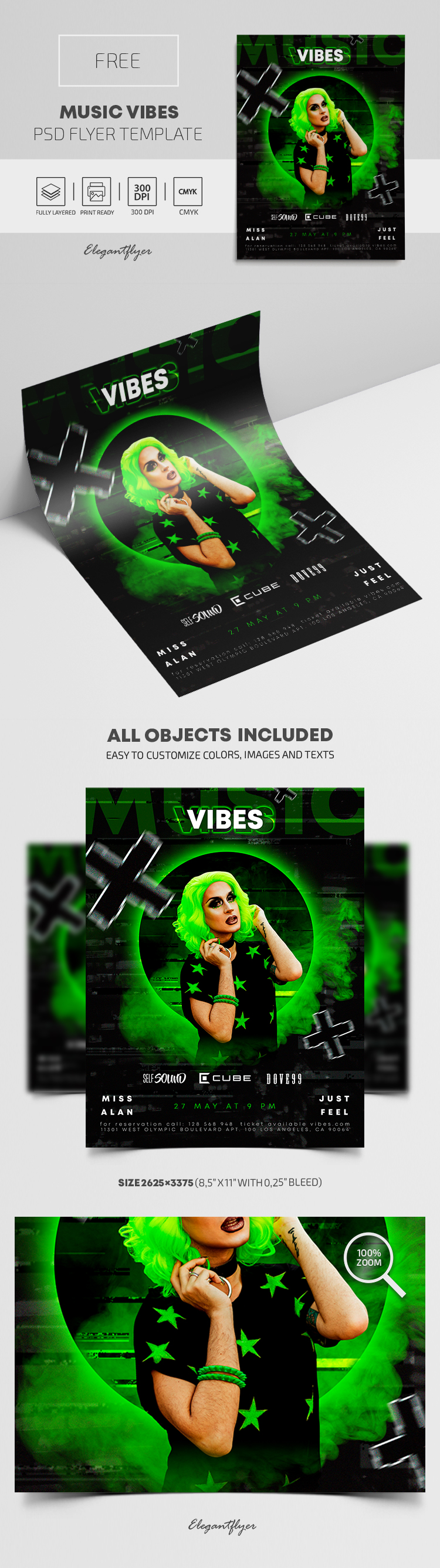 Music Vibes – Free PSD Flyer Template