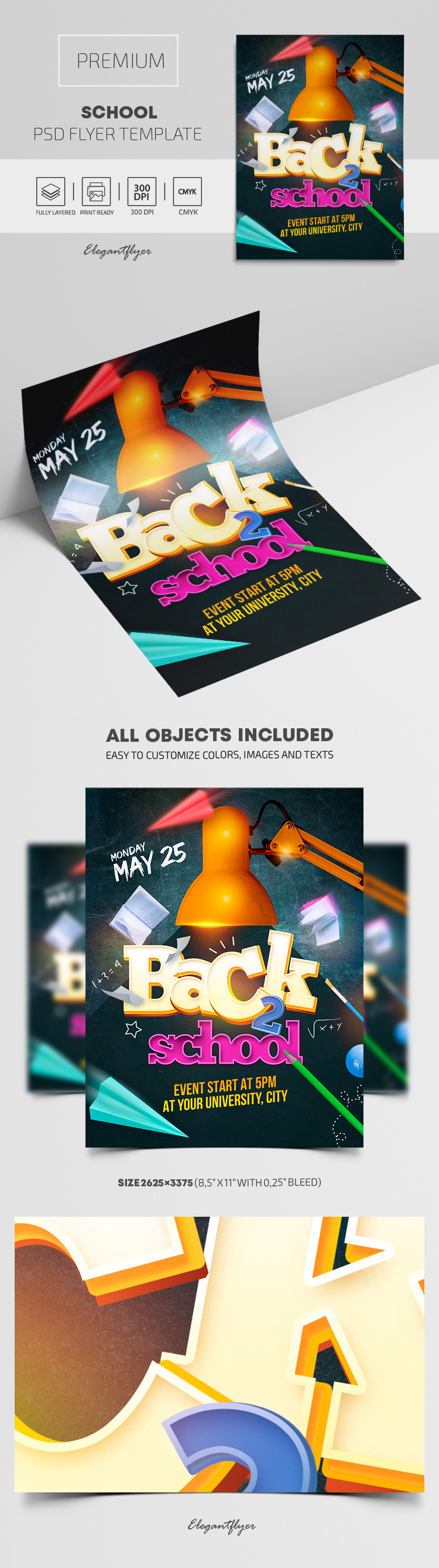 School – Flyer PSD Template