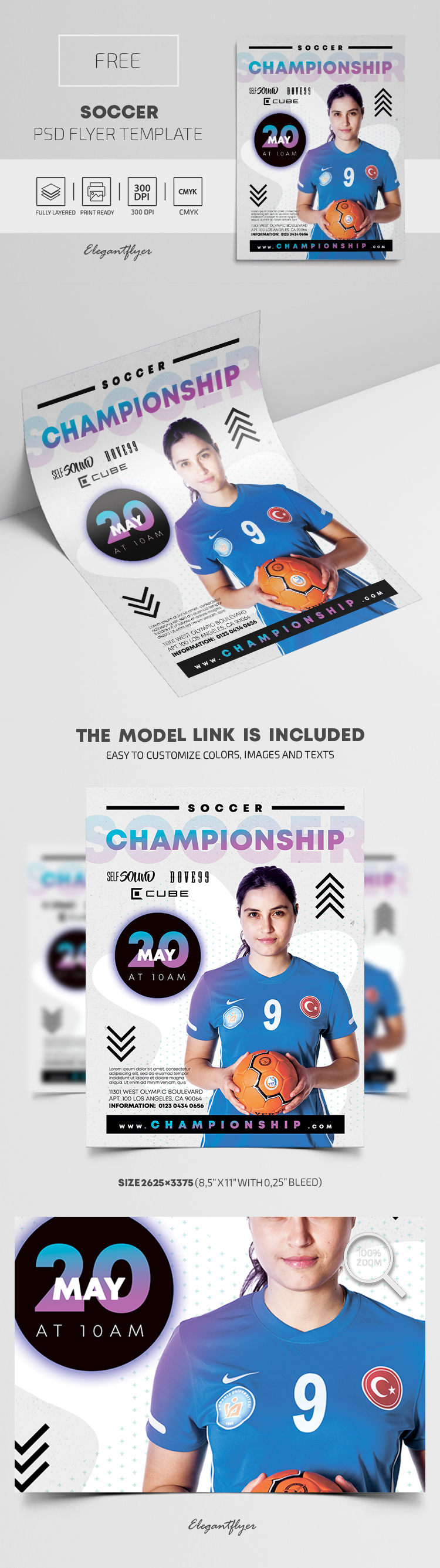 Soccer – Free PSD Flyer Template