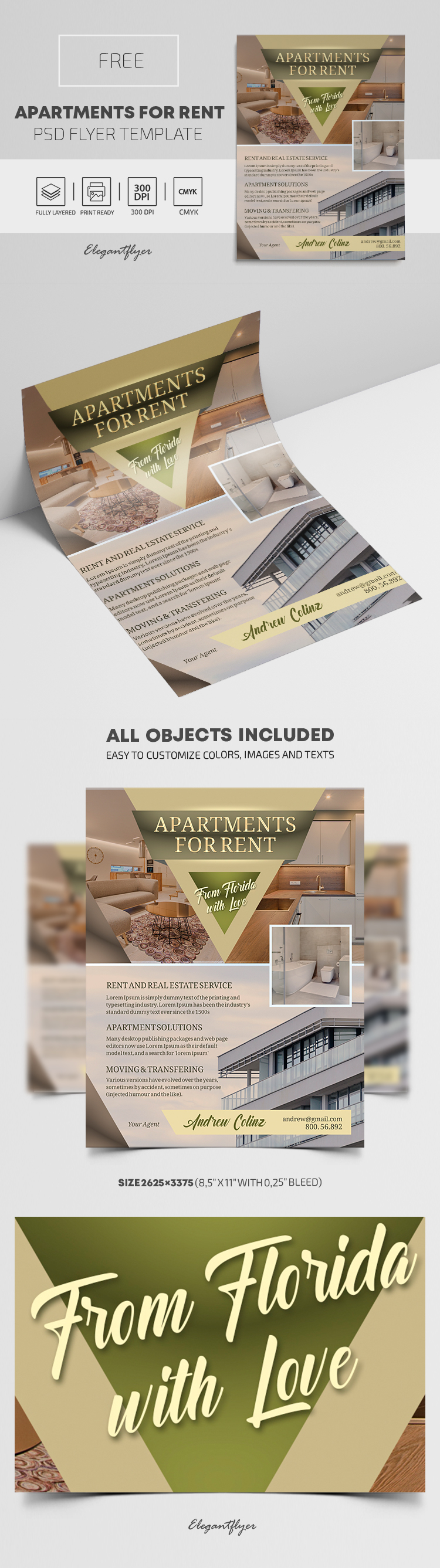 Apartments For Rent – Free Flyer PSD Template
