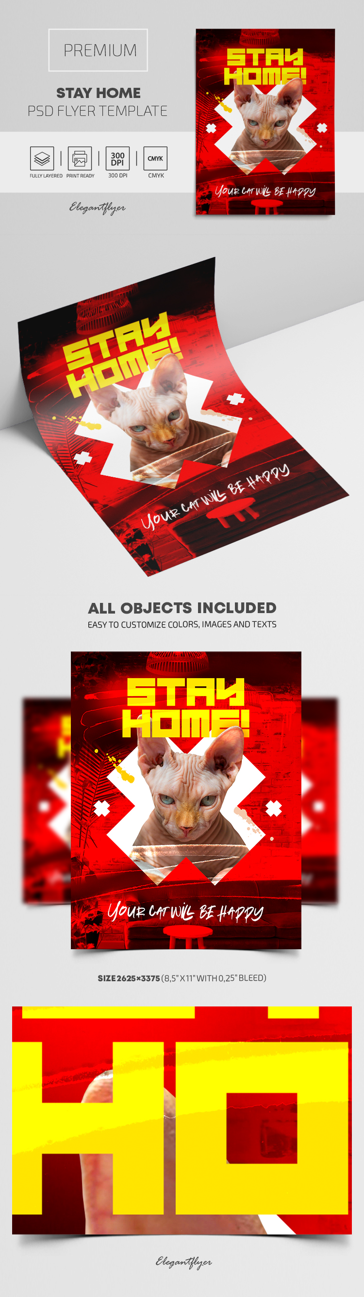 Stay Home – Premium PSD Flyer Template