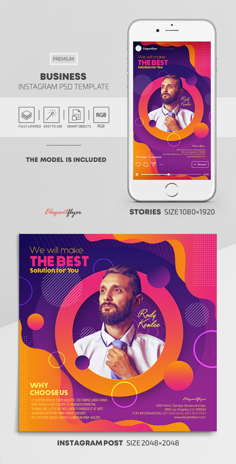 Business – Instagram Stories Template in PSD + Post Templates