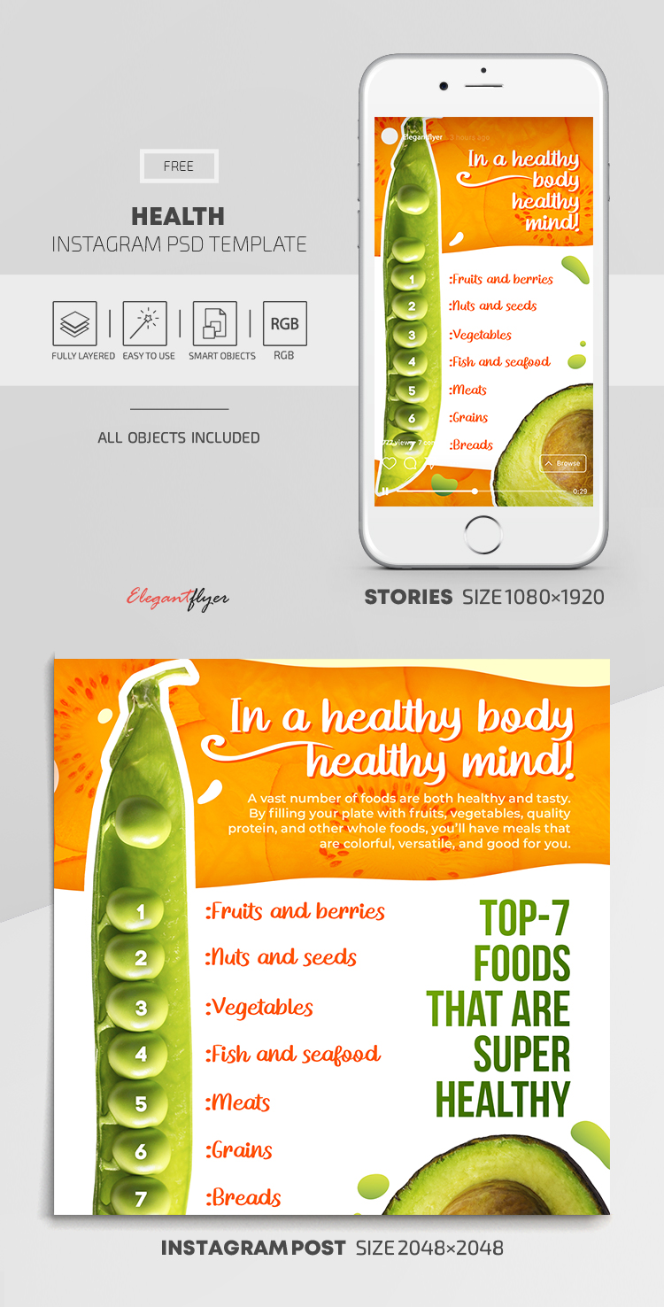 Health – Free Instagram Stories Template in PSD + Post Templates
