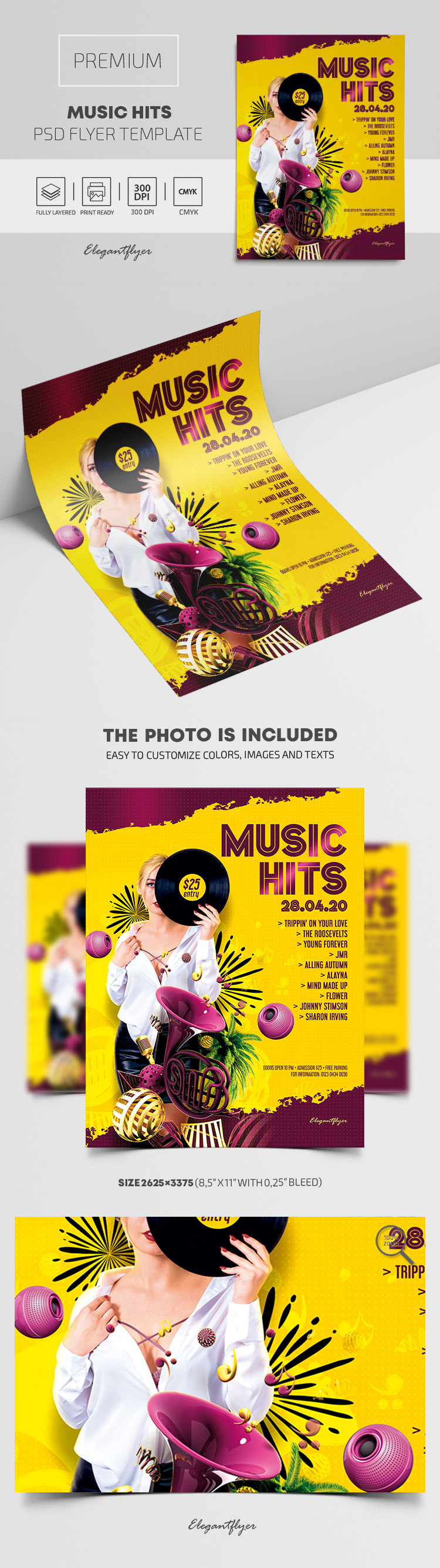 Music Hits – Premium PSD Flyer Template